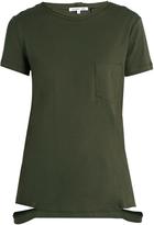 Helmut Lang Cut-hemline cotton-jersey T-shirt