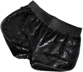 Patrizia Pepe Black Glitter Shorts for Women