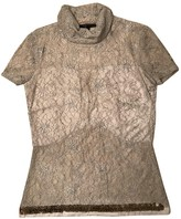 Patrizia Pepe Ecru Glitter Top for Women