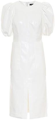 Rotate by Birger Christensen Katarina faux-leather midi dress