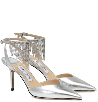 Jimmy Choo Birtie 85 embellished leather pumps