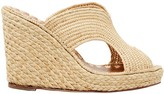 Carrie Forbes Lina Raffia Wedge Sandals