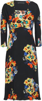 Etro Fluted Floral-print Crepe Dress