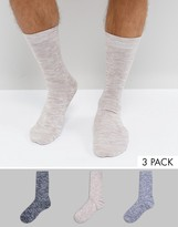 Asos Socks In Space Dye Texture 3 Pack