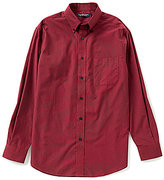 Roundtree & Yorke Long-Sleeve Mini Check Sportshirt