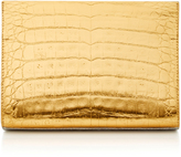 Nancy Gonzalez Two-Tone Crocodile Clutch
