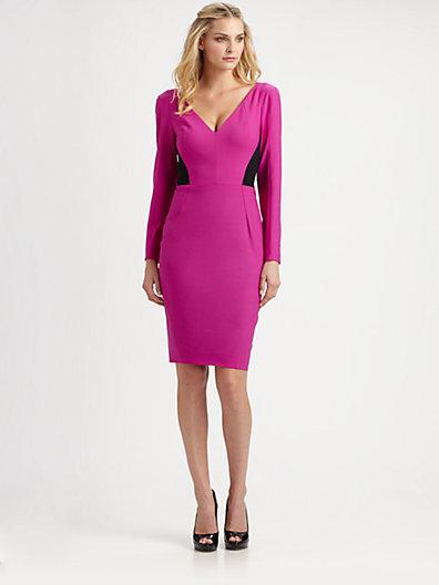 Rachel Roy Tropical Wool Colorblock Dress