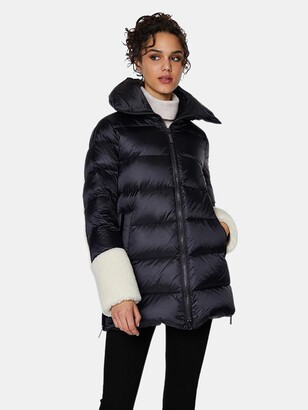 Dawn Levy Emmie Frost Mixed Media Midweight Puffer