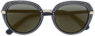 Jimmy Choo Eyewear Mori studded sunglasses