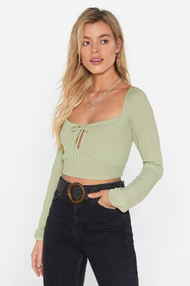 Nasty Gal Womens Sweet on You Square Neck Crop Top - Black - 4, Black
