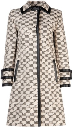 Alberta Ferretti Embroidered Jacquard Logo Coat