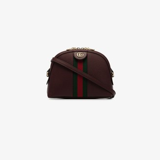 Gucci bordeaux red Ophidia small shoulder bag