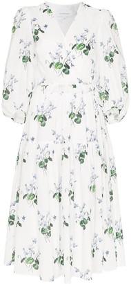Les Rêveries Floral Print Midi-Dress