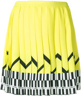 Versace pleated patterned skirt
