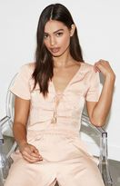 KENDALL + KYLIE Kendall & Kylie Satin Tie Front Top