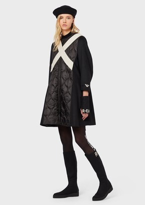 Emporio Armani R-Ea Wool-Blend Coat With Cross-Over Detail