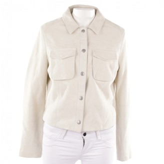 AG Jeans White Leather Jacket for Women