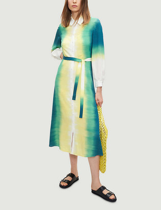 Claudie Pierlot Riveratere tie-dye silk midi shirt dress