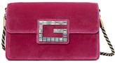 Gucci pink velvet Shoulder bag with Square G