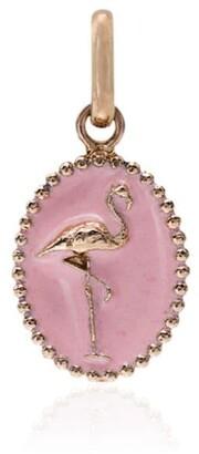 Gigi Clozeau Pink And Rose Gold Flamingo Charm