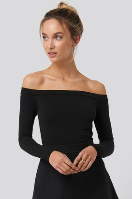 Bardot Pamela X NA-KD Long Sleeve Top Black