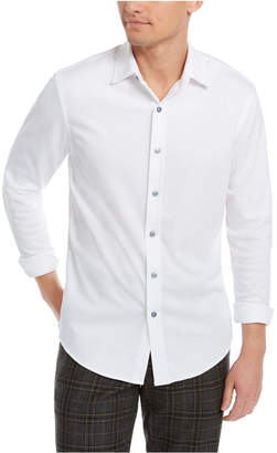 Tasso Elba Men Supima Cotton Birdseye-Knit Shirt
