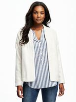 Old Navy Open-Front Stand-Collar Jacket for Women