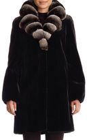Gorski Chinchilla-Collar Belted Mink Stroller Coat