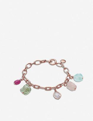 Monica Vinader 18ct Rose-Gold Vermeil, Kyanite, Citrine, Orange Carnelian, Aquamarine And Lemon Quartz Bracelet