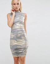 AX Paris Metallic Ruched Mini Dress