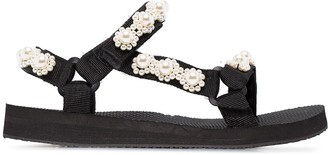 Arizona Love Pearl-Embellished Sandals