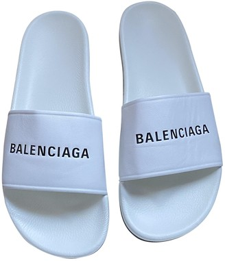 Balenciaga White Rubber Sandals