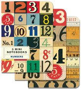 Cavallini & Co. Numbers 4x5 3 Mini Notebooks