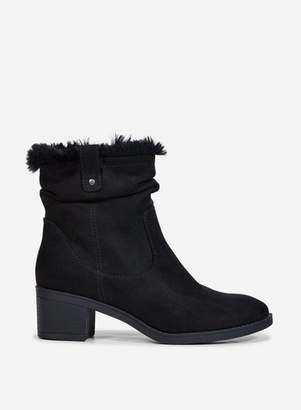 Dorothy Perkins Womens Black 'Moscow' Ruched Ankle Boots, Black
