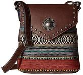 M&F Western Savannah Conceal Carry Crossbody (Serape/Brown) Handbags