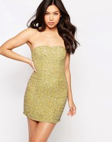 Glamorous Sequin Bandeau Dress