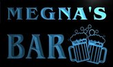 AdvPro Name w027989-b MEGNA Name Home Bar Pub Beer Mugs Cheers Neon Light Sign