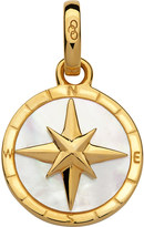 Links of London 18ct yellow-gold vermeil and mother of pearl compass charm