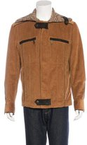 Dolce & Gabbana Corduroy Leather-Trimmed Jacket