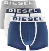 Diesel Underwear Damien 3 Pack Boxer Shorts Navy