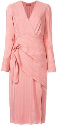 Altuzarra Lame wrap dress