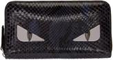 Fendi Purple Python 'Bag Bug' 2Jour Wallet