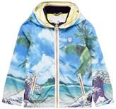 Scotch Shrunk Beach Print Nylon Jacket