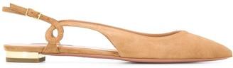 Aquazzura Serpentine slingback ballerina shoes