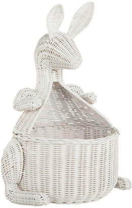 Kouboo Kangaroo Wicker Storage Basket, White
