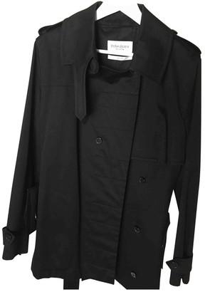 Saint Laurent Black Cotton Trench Coat for Women