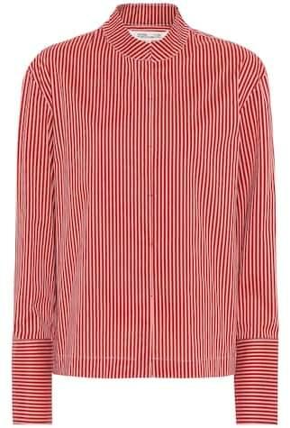 Diane von Furstenberg Striped cotton-blend shirt