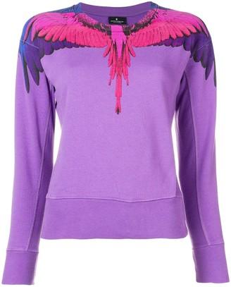Marcelo Burlon County of Milan Bird Feathers Printed Sweater