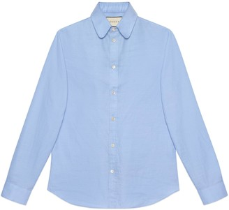 Gucci Round collar Oxford cotton shirt