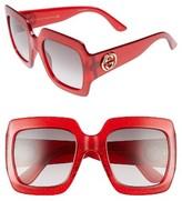 Gucci Women's 54Mm Oversize Square Sunglasses - Gold Glitter/ Grey